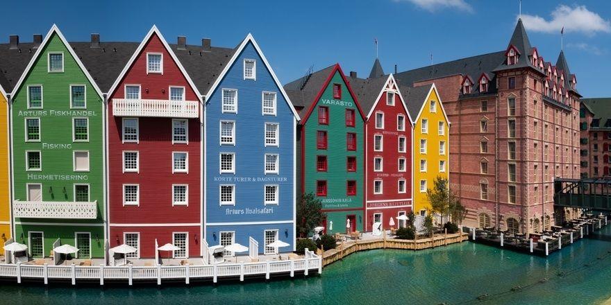 Farbenfrohe Fassade: Das Hotel Krønasår, in dem der Kongress stattfindet