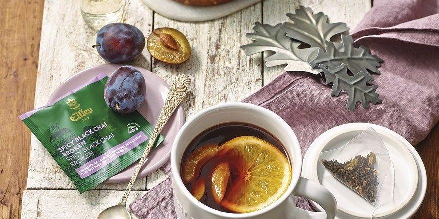 Wärmt: Winterpunsch Pflaume Spicy Chai von Eilles Tee.