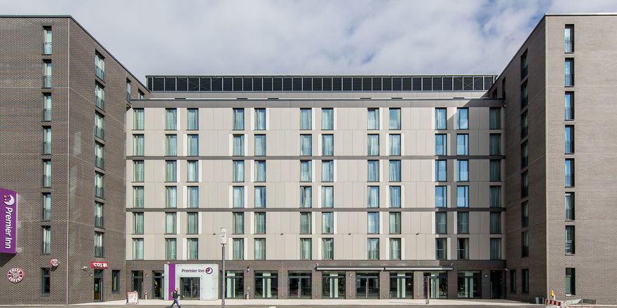 Seit 2016 geöffnet: Das Premier Inn in Frankfurt/M.