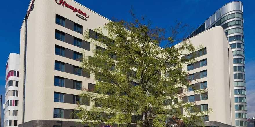 Focused-Service-Marke: Hampton by Hilton, hier das Haus am Frankfurter Airport