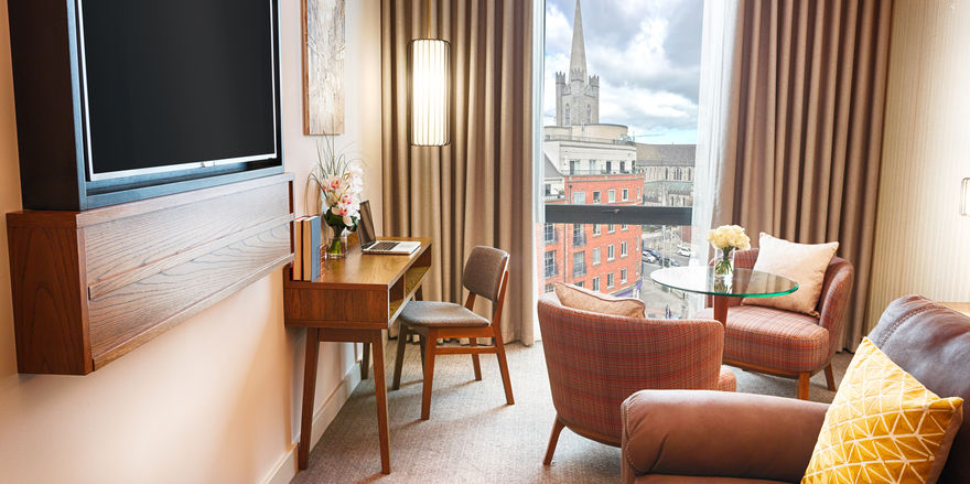 Blick auf die City: Eine der Suiten im neuen Hyatt Centric The Liberties
