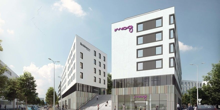 Neues Doppelhotel in München: Moxy und Residence am Ostbahnhof