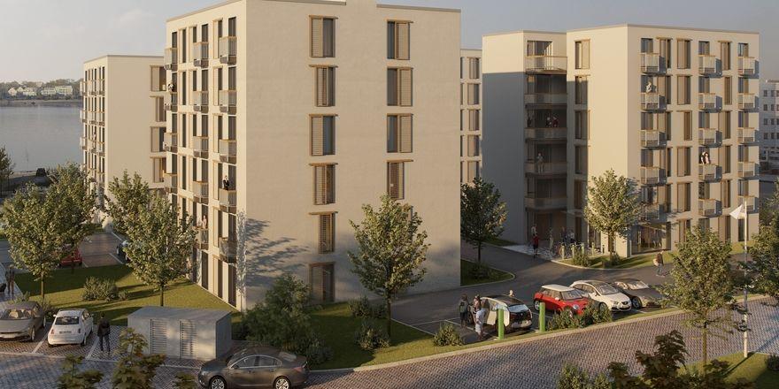 So soll's aussehen: Ein Rendering des jüngsten Pantera-Projekts in Rostock