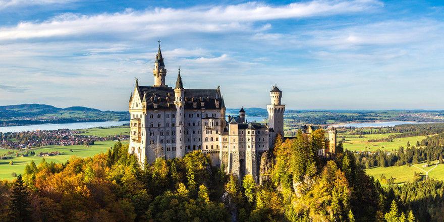 Schloss Neuschwanstein: In der Nähe hat vor Kurzem die Althoff-Marke Ameron ein neues Hotel eröffnet