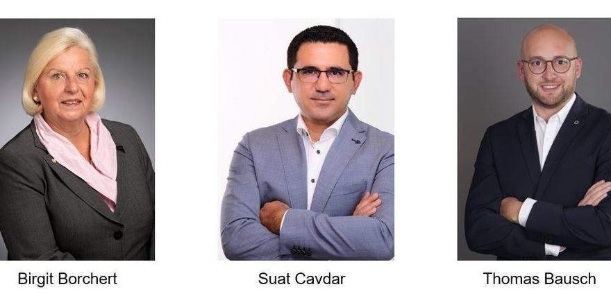 Neue Köpfe: Birgit Borchert, Suat Cavdar und Thomas Bausche heißen die Direktoren