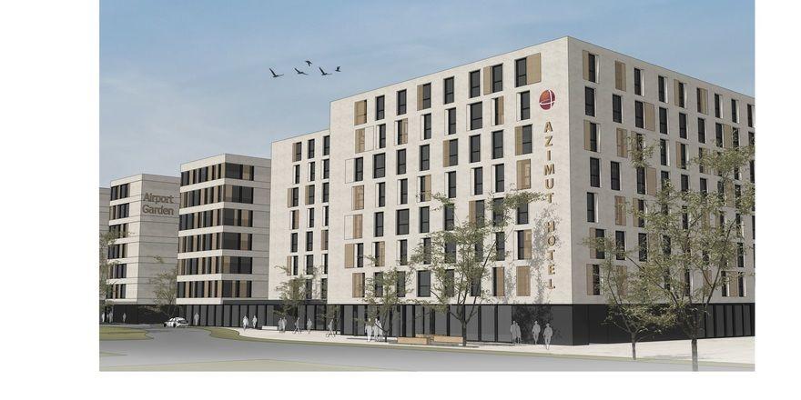 So soll es aussehen: Das Azimut-Hotel im hessischen Raunheim