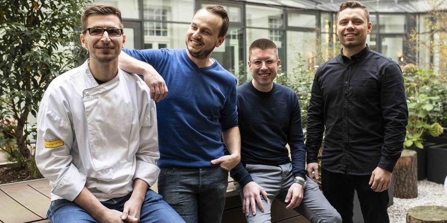 Quartett: (von links) Jean-Marc Komfort, Steve Pietschmann, Yannick Kern und Willi Bittorf