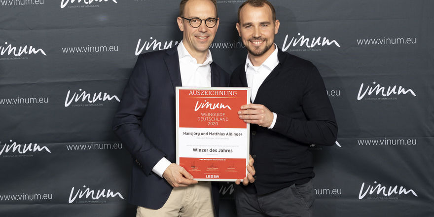 Winzer des Jahres bei Vinum: Hansjörg und Matthias Aldinger aus Fellbach in Württemberg