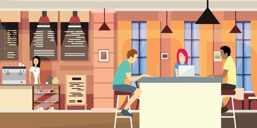 Lockere, gastliche Atmosphäre: In einem Restaurant oder einer Hotellobby geht die Arbeit für viele leichter voran.