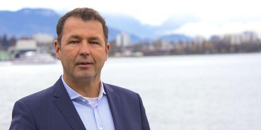 Mit Seeblick: Hoteldirektor Thomas Prenneis