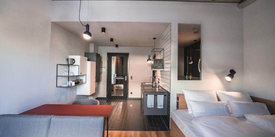 Komplett möbliert: Die Zimmer in der Stayery sind in zwei Kategorien verfügbar