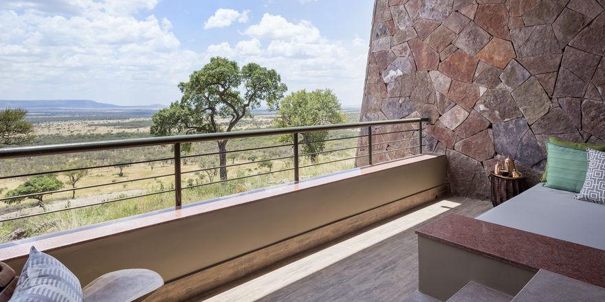 Treuepunkte für die Umwelt: Meliá will einzigartige Landschaften, wie hier vor seiner Lodge in der Serengeti, erhalten