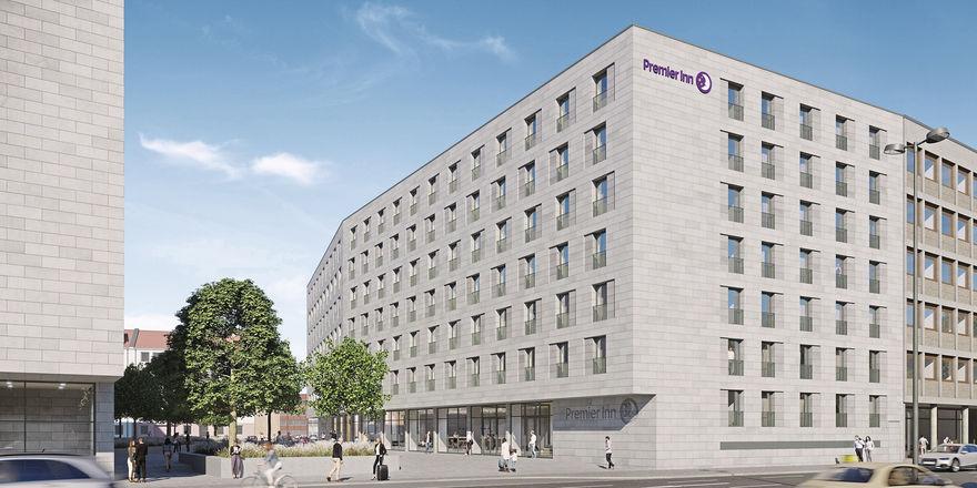 Künftiger Premier-Inn-Standort Nürnberg: GBI entwickelt das dortige Hotel. Eigentümer der Immobilie ist ein Fonds der Bayerischen Versorgungskammer.
