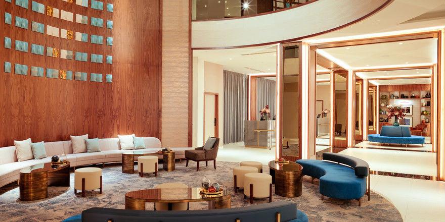 So sieht sie aus: Die neue Lobby im Sheraton Grand Warschau