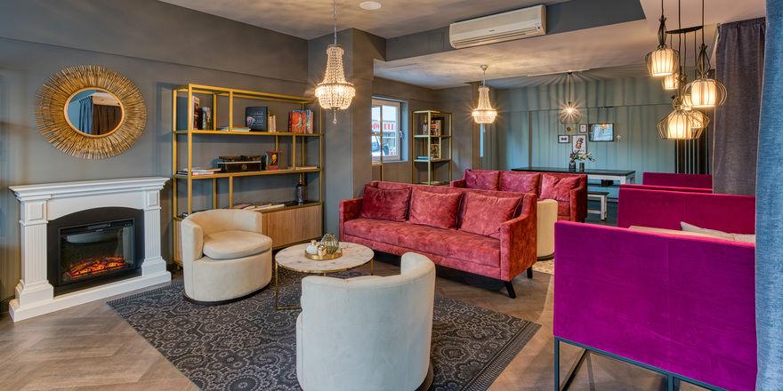 Frankreich lässt grüßen: Die Lobby des neuen Fourside Hotels in Saarbrücken