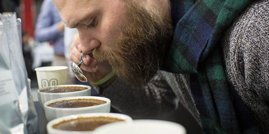 Schlürfen erlaubt: Das Cuptasting ist einer der Höhepunkte der Kaffeepräsentation auf der Gastro Ivent