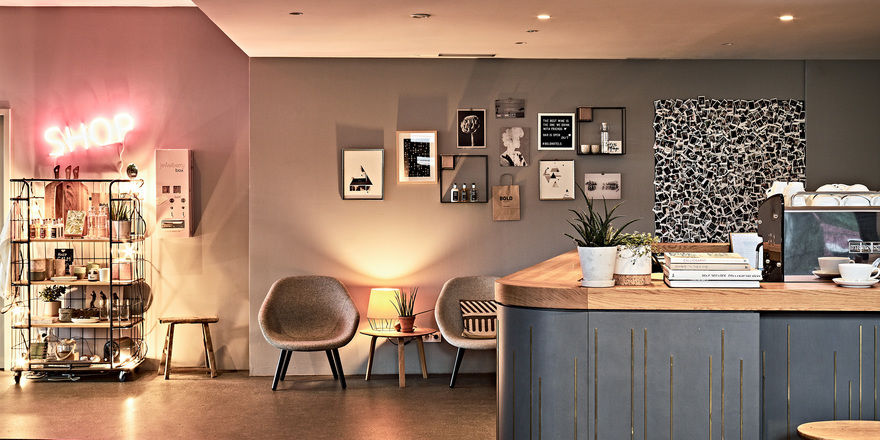 Lobby mit Lounge-Bar: Die Morten-Gruppe bietet mit ihrer Marke Bold auch Apartments an