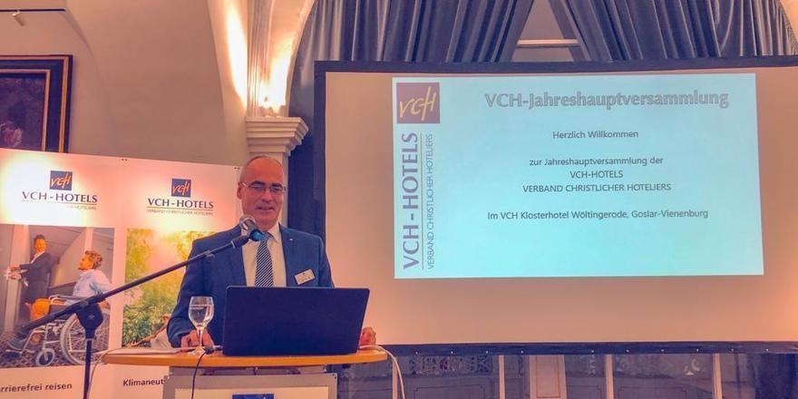Treffen in Goslar: Geschäftsführer Axel Möller begrüßte die VCH-Mitglieder im Klosterhotel Wöltingerode in Goslar