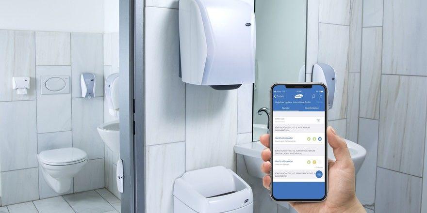 Tor ins Digital-WC: Mit der App wird ein Spender nach dem anderen zugänglich.