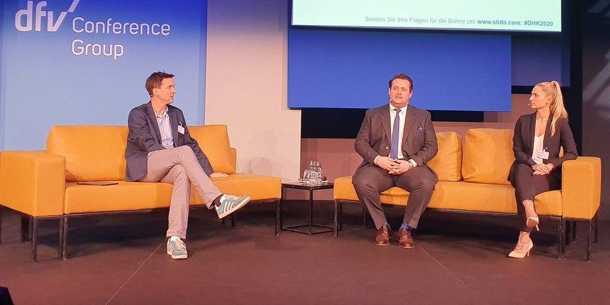 Zukunftsthemen: (von links) Ullrich Kastner, Sven Köllmann und Felizitas Denz diskutieren unter anderem zu digitalem Marketing