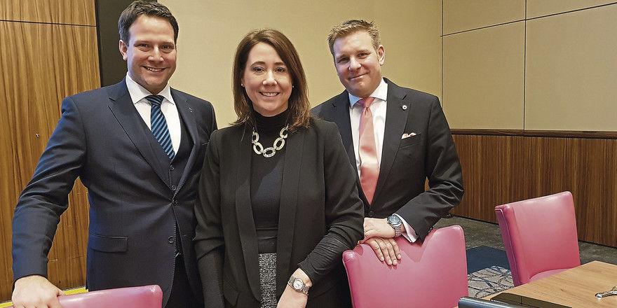 Berichteten aus der Berufspraxis: (von links) Peter Lederer, Britta Kutz und Sebastian Koerdt.