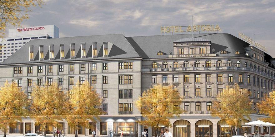 Das Astoria im Architekten-Rendering: So soll das 200-Zimmer-Haus künftig aussehen
