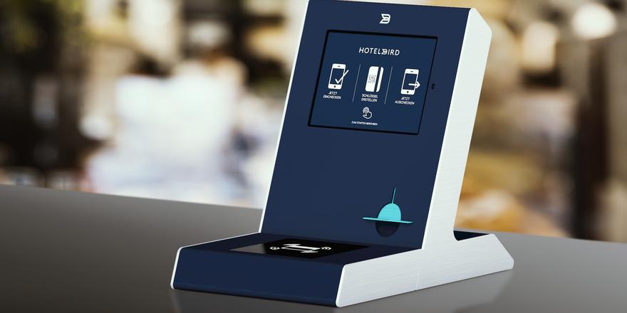 Neues Gerät: Hier können Gäste einchecken, die ihr eigenes Smartphone dafür nicht nutzen möchten