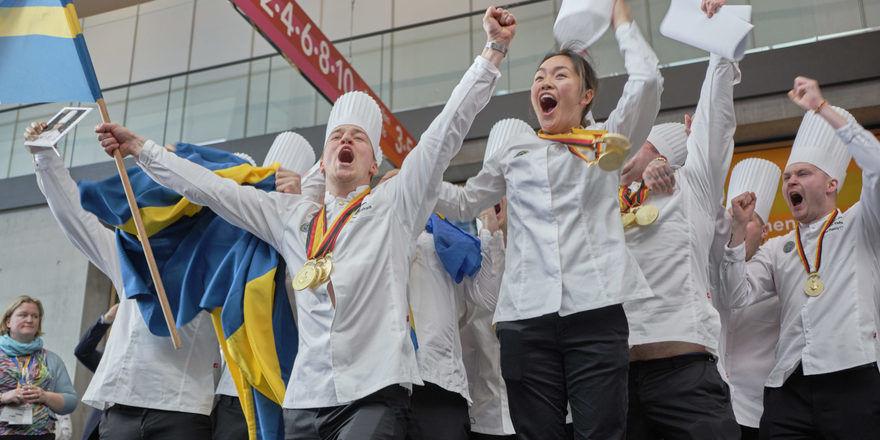 Große Freude: Schweden holte Gold in der Kategorie Jugendnationalmannschaften