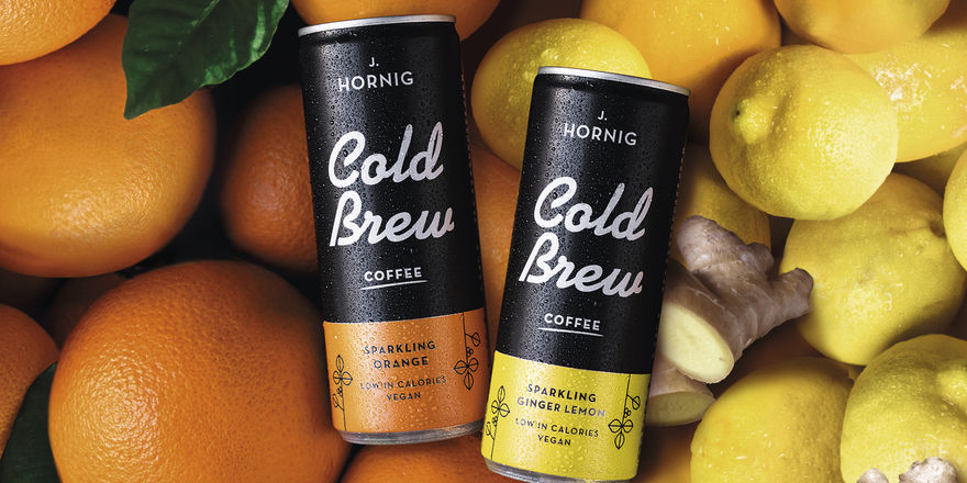 Fruchtige Wachmacher: J. Hornig Cold Brew Sparkling Orange und Sparking Orange