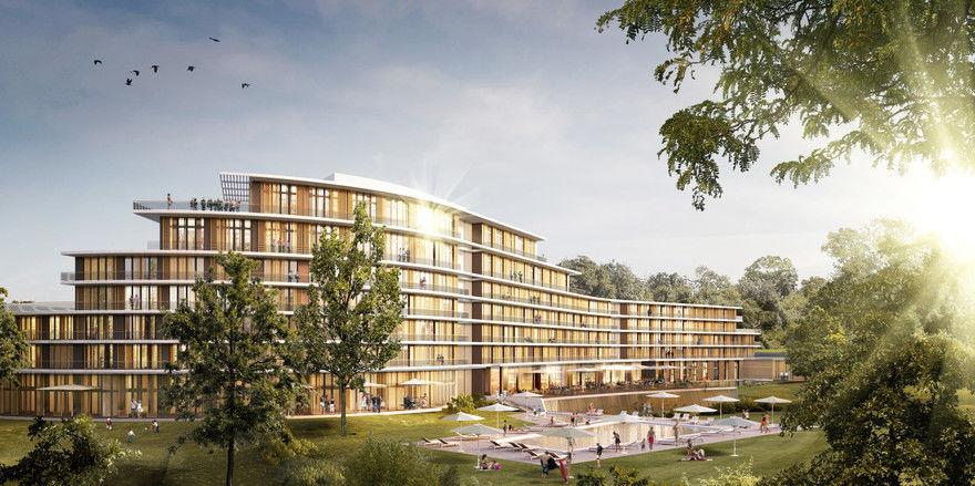 So soll's aussehen: Ein Rendering des Dorint Seehotel & Resort Klink/Müritz