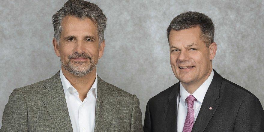 Otto Lindner (links) und Markus Luthe: Sie blicken zurück auf 2019 und bekräftigen ihre Forderung nach besserer Hilfe für den Mittelstand