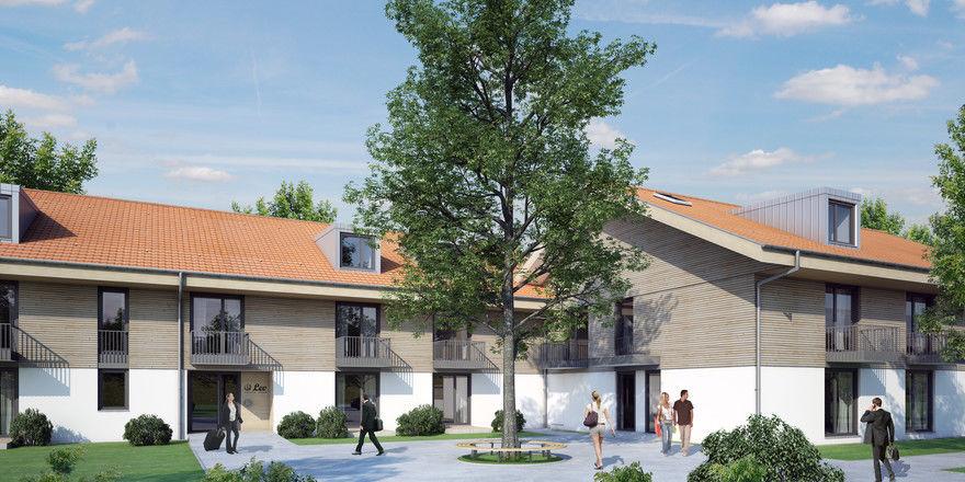 So soll es aussehen: Das Boardinghouse Leo Apartments Miesbach