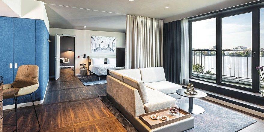 Hohe Raten: MHP erzielt mit seinen Zimmern gute Preise – hier eine frisch renovierte Suite im Le Méridien Hamburg.
