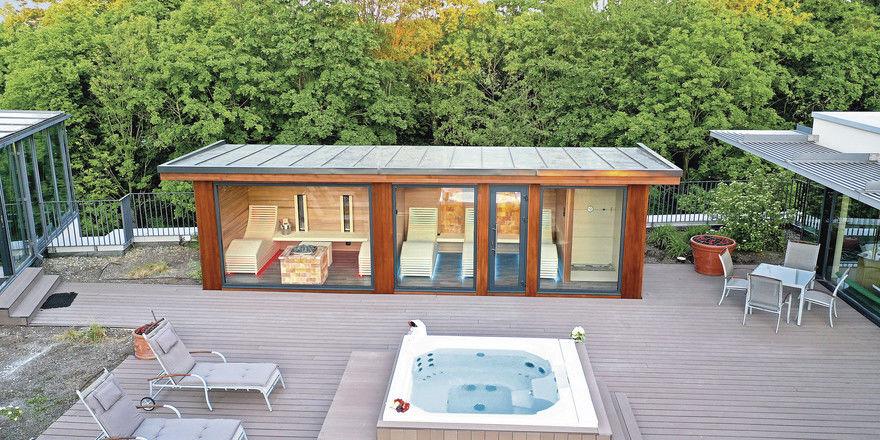 Hoch hinaus: Der neue Wellnessbereich auf dem Dach trifft den Outdoor-Trend.