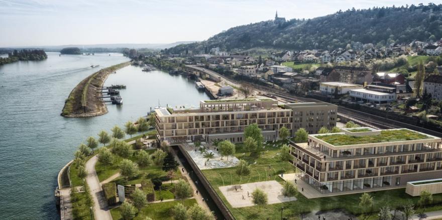 Blick aufs Papa-Rhein-Areal in Bingen