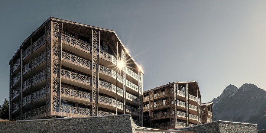 Das Valsana Hotel & Appartements erlaubt die freie Sicht auf die Berggipfel.