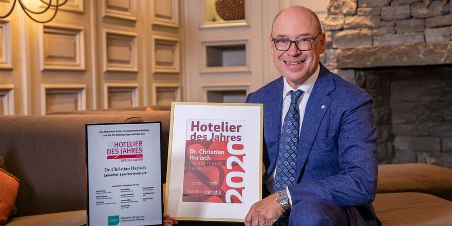 """Christian Harisch wird """"Hotelier des Jahres"""" in Österreich"""