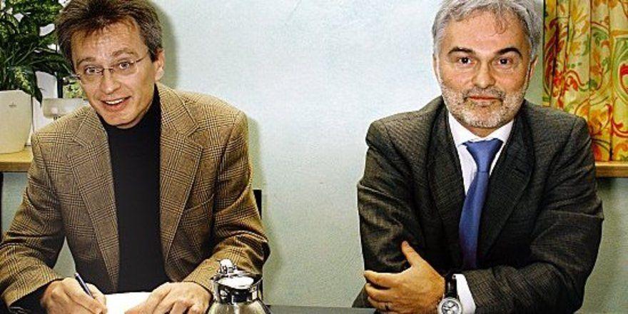 "Legten Konjunkturbericht vor: <em> Gerhard Kühnel (links) und Bernd Luxenburger <tbs Name=""foto"" Content=""*un*gw.6,5""/>"