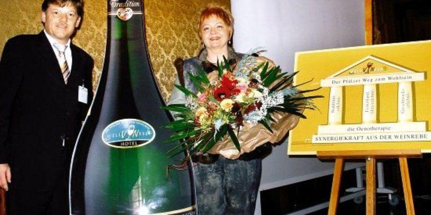 """Gemeinsame Marke: <em>Kurpfalz-Vorsitzender Gunther Butz und Judith Ziegler-Schwaab <tbs Name=""""foto"""" Content=""""*un*gw.6,5""""/>"""