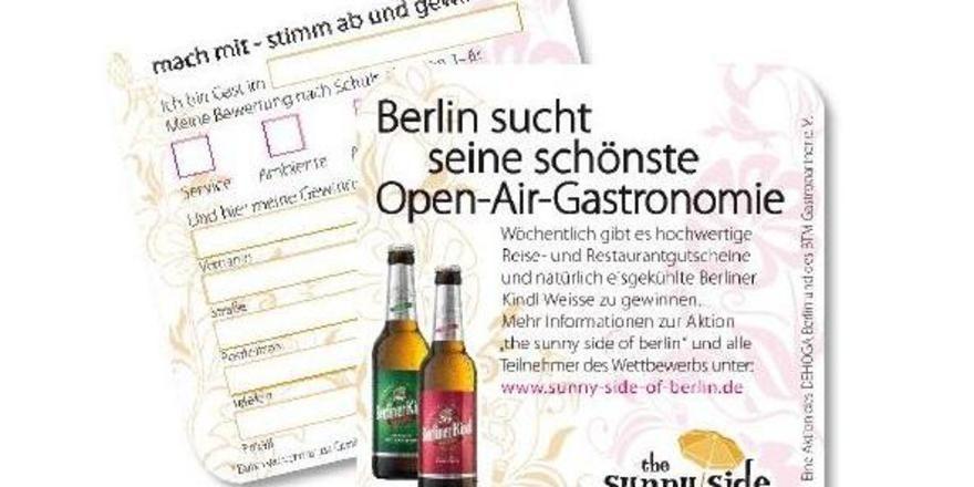 "Per Bierdeckel abstimmen: Bei der Aktion ""The sunny side of berlin"""