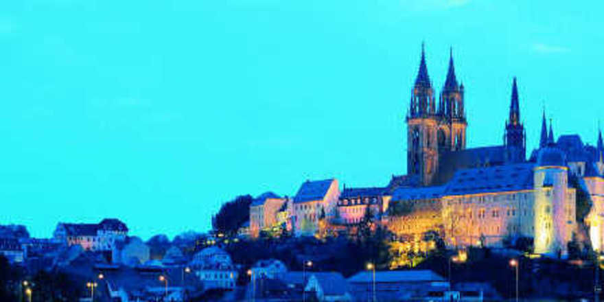 Hoch über dem Elbtal: Die Albrechtsburg von Meißen gilt als Balkon der Stadt