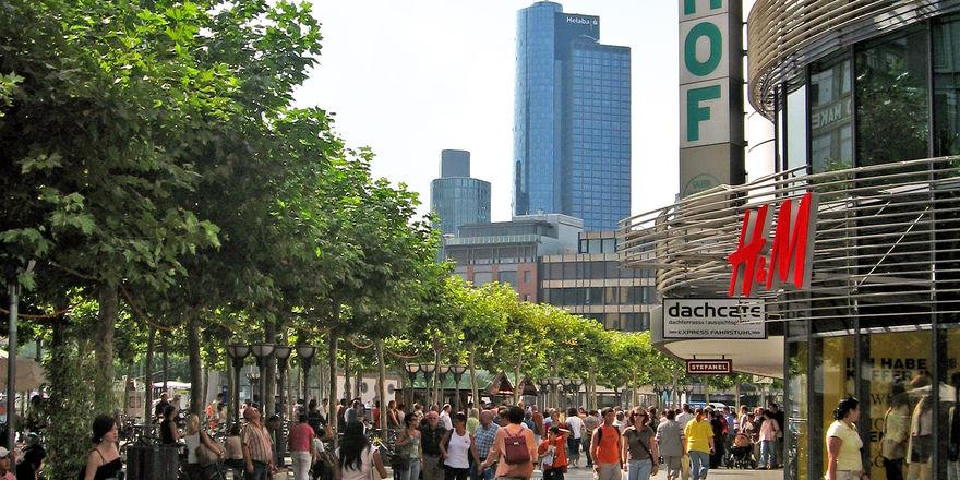 """Bekommt ein neues """"Gesicht"""": Die Frankfurter Zeil."""