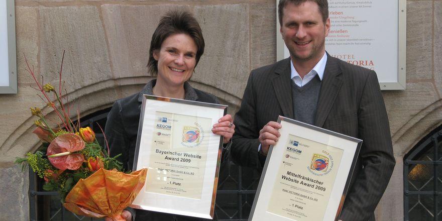 Sabine Powels (links) und Markus Straub-Lezius von der Werbeagentur straub design
