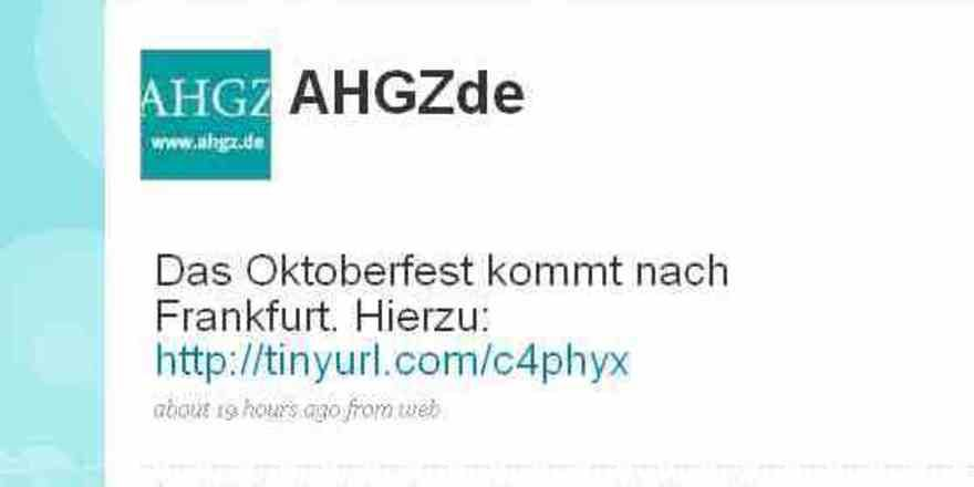Ab sofort twittert die AHGZ