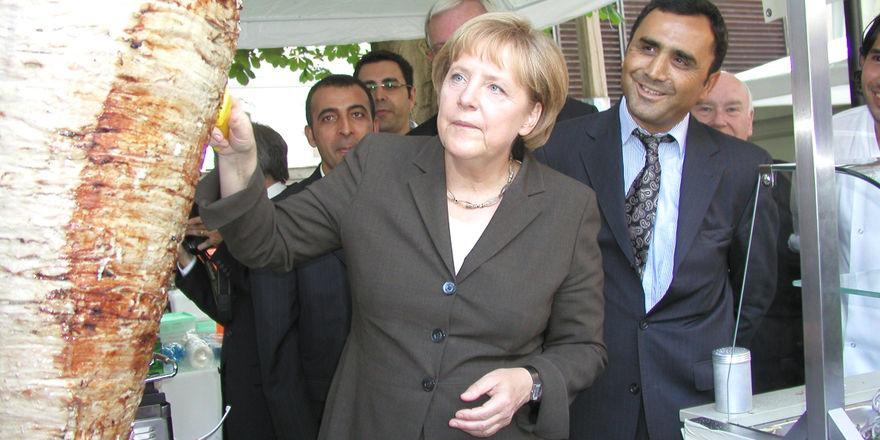Döner-Fan: Bundeskanzlerin Angela Merkel