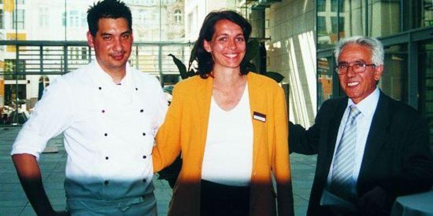 """Das Führungsteam des neu eröffneten Jolly Hotels Vivaldi: Generaldirektor Armando Fioretti, Sales Managerin Johanna Perkhofer und Küchenchef Robin Beulich.<tbs Name=""""foto"""" Content=""""*un""""/>"""