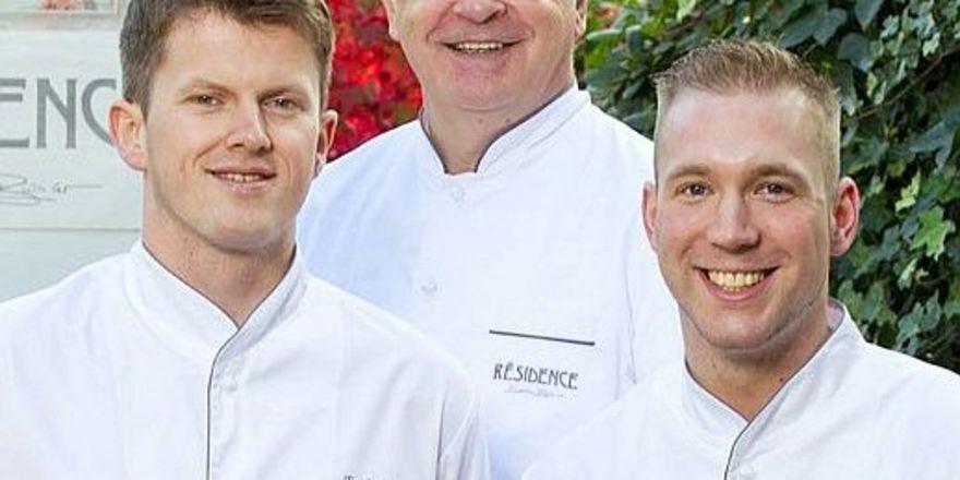 Neues Résidence-Trio: Berthold Bühler (Mitte) und seine neuen Küchenchefs Erik Arnecke (links) und Eric Werner