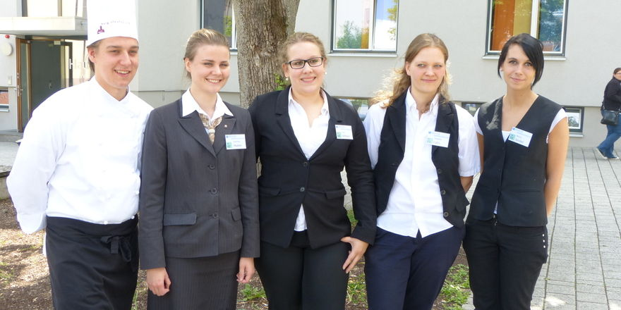 Erfolgsquintett: Die Sieger (v.l.) Alexander Neuberth, Solveig Huber, Lisa Altherr, Simone Labs und Mona Seidel