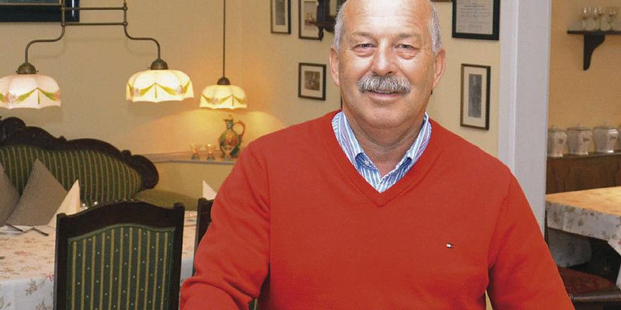 Standfest: Gastronom Robert Arp führt den Landgasthof in sechster Generation. Das Traditionslokal wurde im Jahr 1827 eröffnet