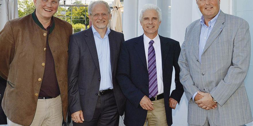 Expertenrunde: (von rechts) DEHOGA-Kreisverbandsvorsitzender Jens Musche mit Jürgen Friedel, Hans-Jürgen Merkle und Thilo Naumann